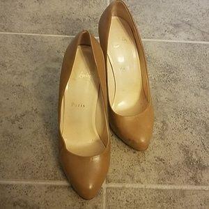 Christian Louboutin Tan High Heels